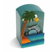 Weizenkorn Muziekdoos 3D Dolfijn Hout