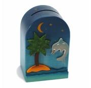 Weizenkorn Spaarpot 3D Dolfijn Hout