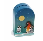 Weizenkorn Spaarpot 3D Pinguin Hout