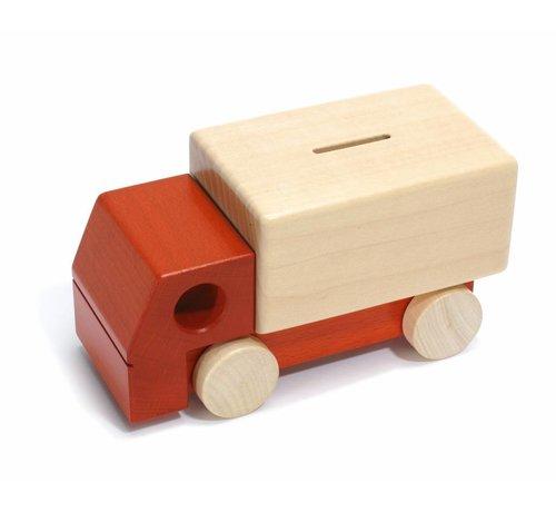 Weizenkorn Spaarpot Vrachtauto Hout