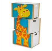 Weizenkorn Speelgoedkist Giraf 3-delig Hout