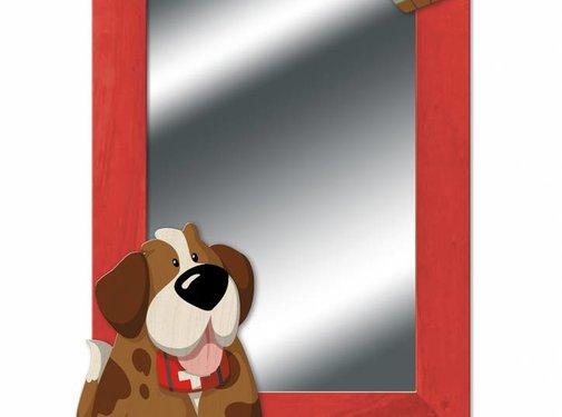 Weizenkorn Spiegel Hond St Bernard Hout