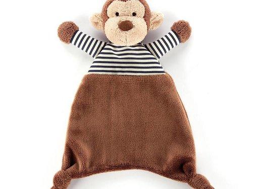 Jellycat Knuffeldoek Aap Stripy Monkey