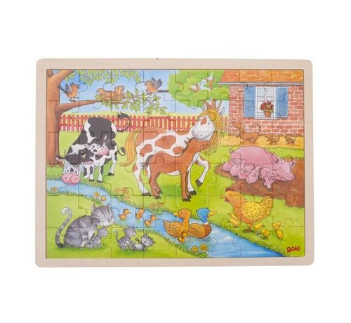 GOKI Puzzle Life on the Farm