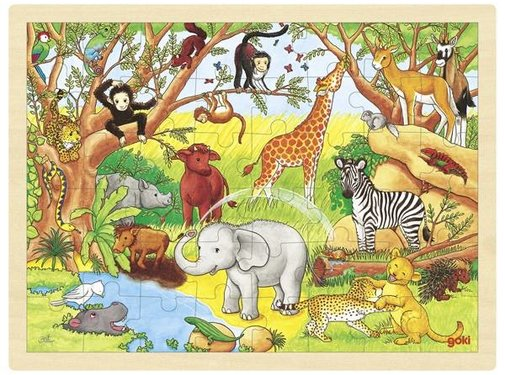 GOKI Goki Puzzel Dieren Afrika Hout