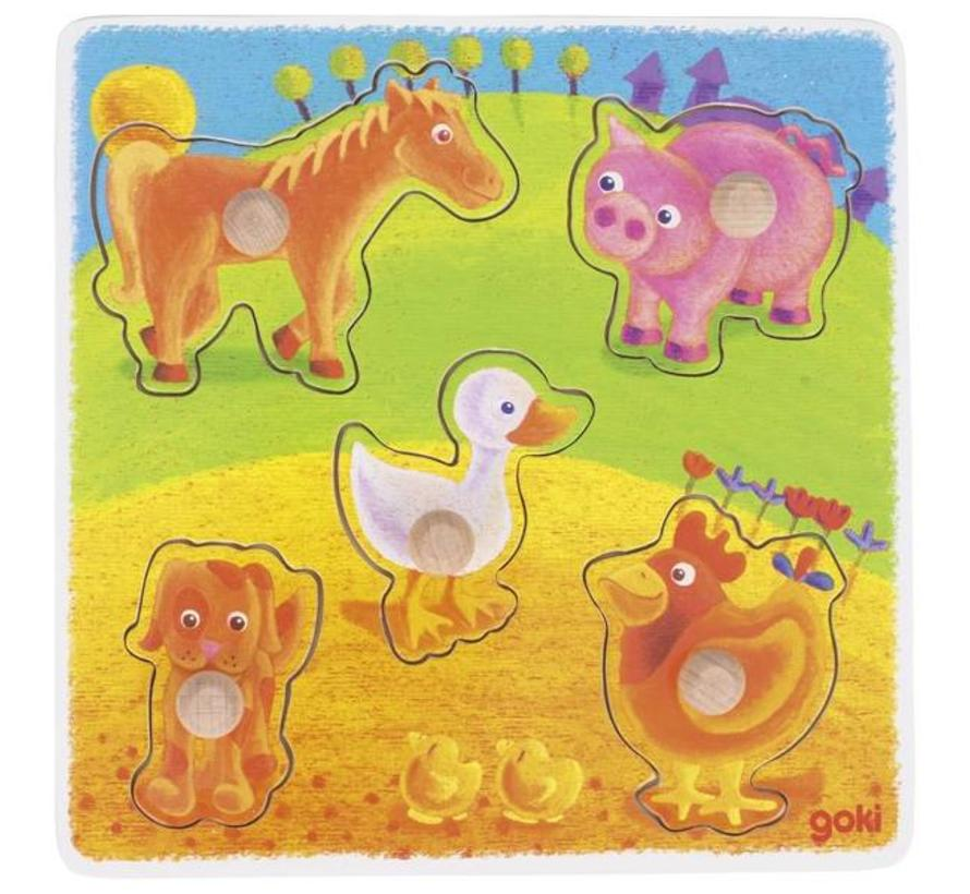 Puzzel Dieren Boerderij Hout