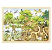 GOKI Puzzel Ontdekking in de Natuur Hout 96 pcs