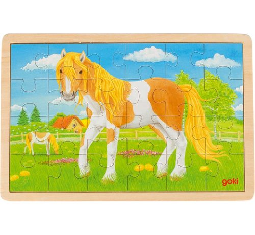 GOKI Puzzel Paard Hout