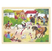 GOKI Puzzel Paarden Jumping Hout