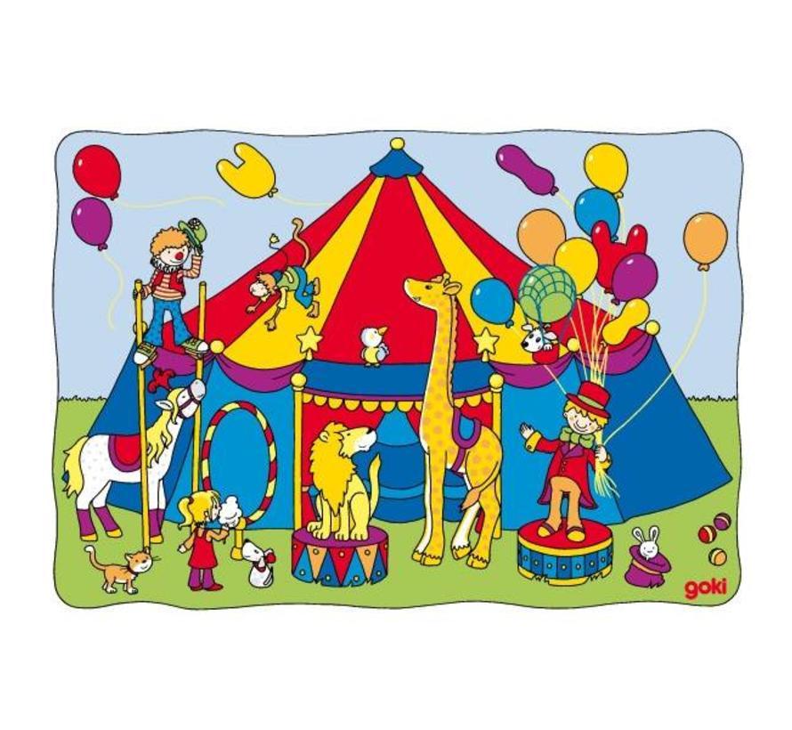 Puzzel Schuif Circus Dieren Hout