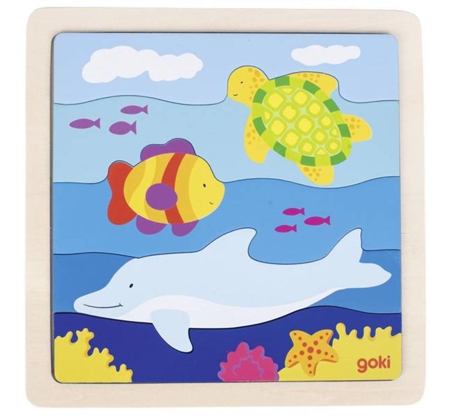 Puzzel Zee Hout
