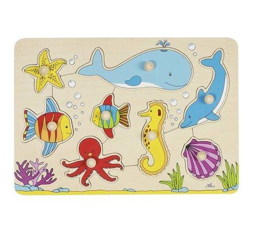 GOKI Puzzel Zeedieren Hout
