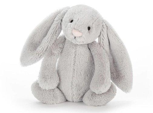 Jellycat Knuffel Konijn Bashful Silver Bunny Chime
