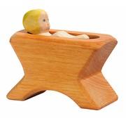 Ostheimer Manger with Child 2-pcs 40403