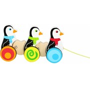 Small Foot Trekfiguur Pinguins  Hout