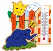 Small Foot Thermometer Dieren Set 3-stuks Hout