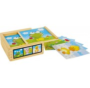 Small Foot Puzzel Kubus Dieren  Hout