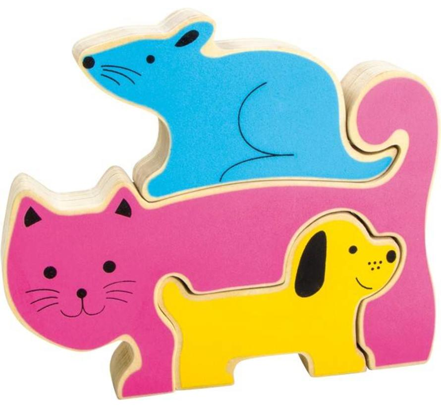 Puzzel Hond Poes Muis