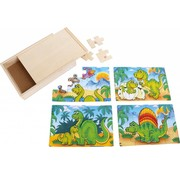 Small Foot Puzzel Dinosauriër Box Hout