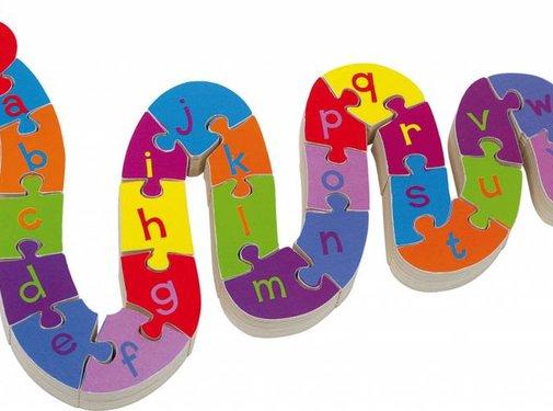 Small Foot Puzzel Alfabet Slang  Hout