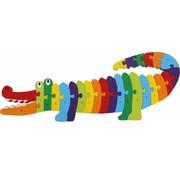 Small Foot Puzzel Alfabet Krokodil  Hout