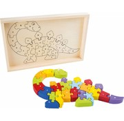 Small Foot Puzzel ABC Dino Hout