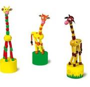 Small Foot Drukdieren 3-delig Giraf