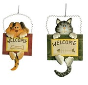 Small Foot Decoratiebord Welcome Hond Kat