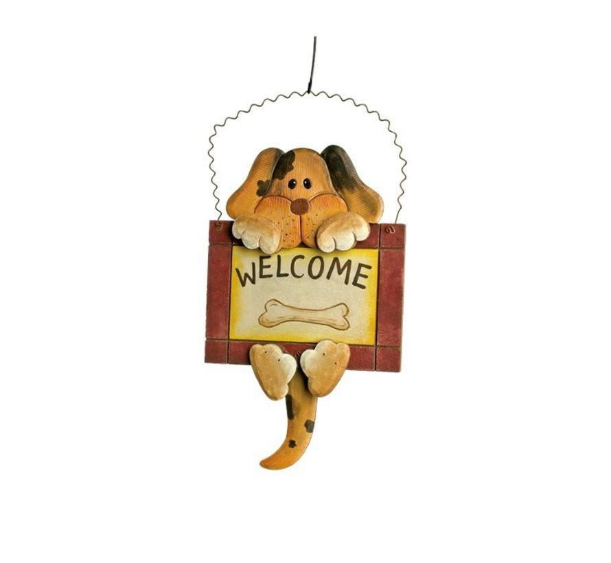 Decoratiebord Welcome Hond Kat