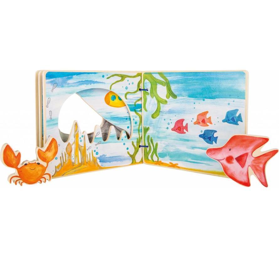 Boek Interactieve Onderwaterwereld Vissen Hout