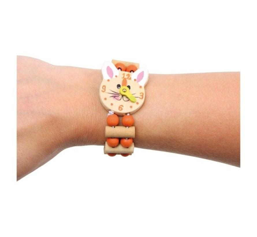 Armband Horloge Muizen Hout 2-delig