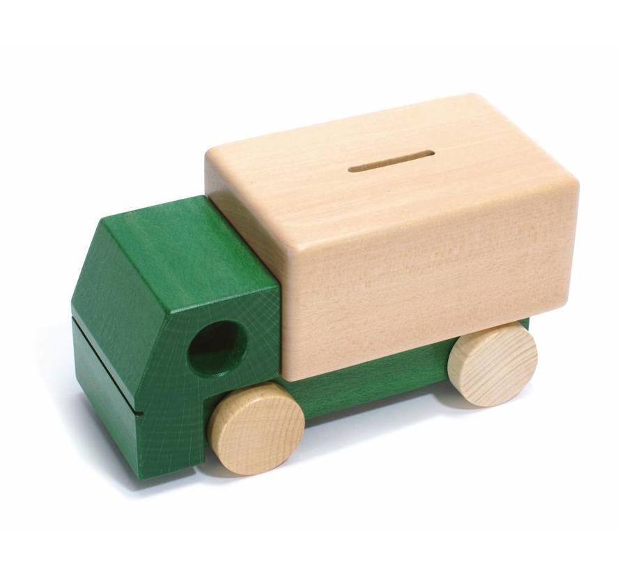 Spaarpot Vrachtauto Hout