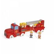 Janod Brandweerauto Groot 4 Brandweermannen