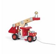 Janod Trekfiguur Brandweerauto Hout