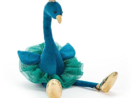 Jellycat Knuffel Pauw Fancy Peacock