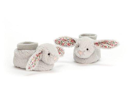 Jellycat Slofjes Blossom Silver Bunny Booties