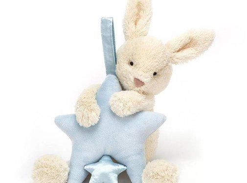 Jellycat Muziekknuffel Star Bunny Blue Musical Pull