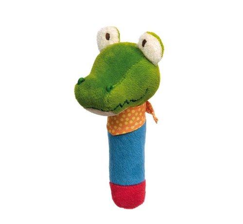 sigikid Grijpfiguur Krokodil Squeaker met Piep PlayQ
