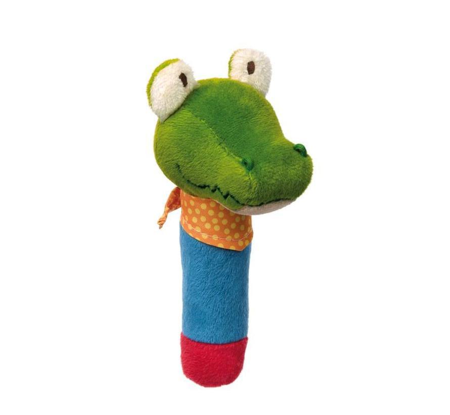 Grijpfiguur Krokodil Squeaker met Piep PlayQ