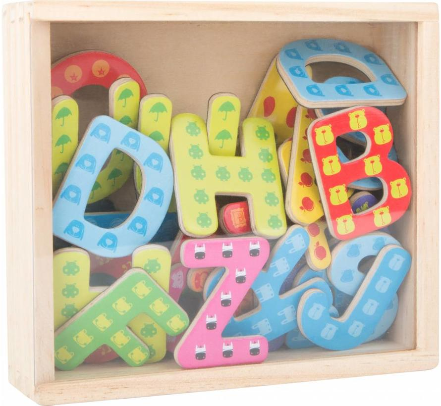 Magneetletters Hout