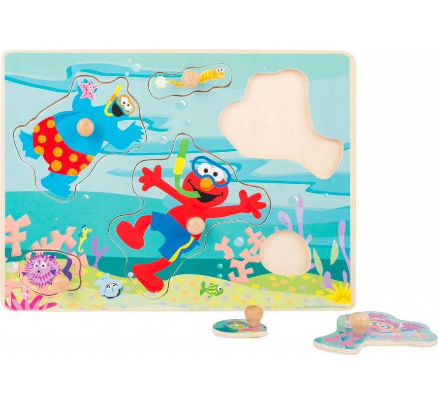 Puzzel Sesamstraat Onderwaterwereld Hout