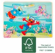 Small Foot Puzzel Sesamstraat Onderwaterwereld Hout