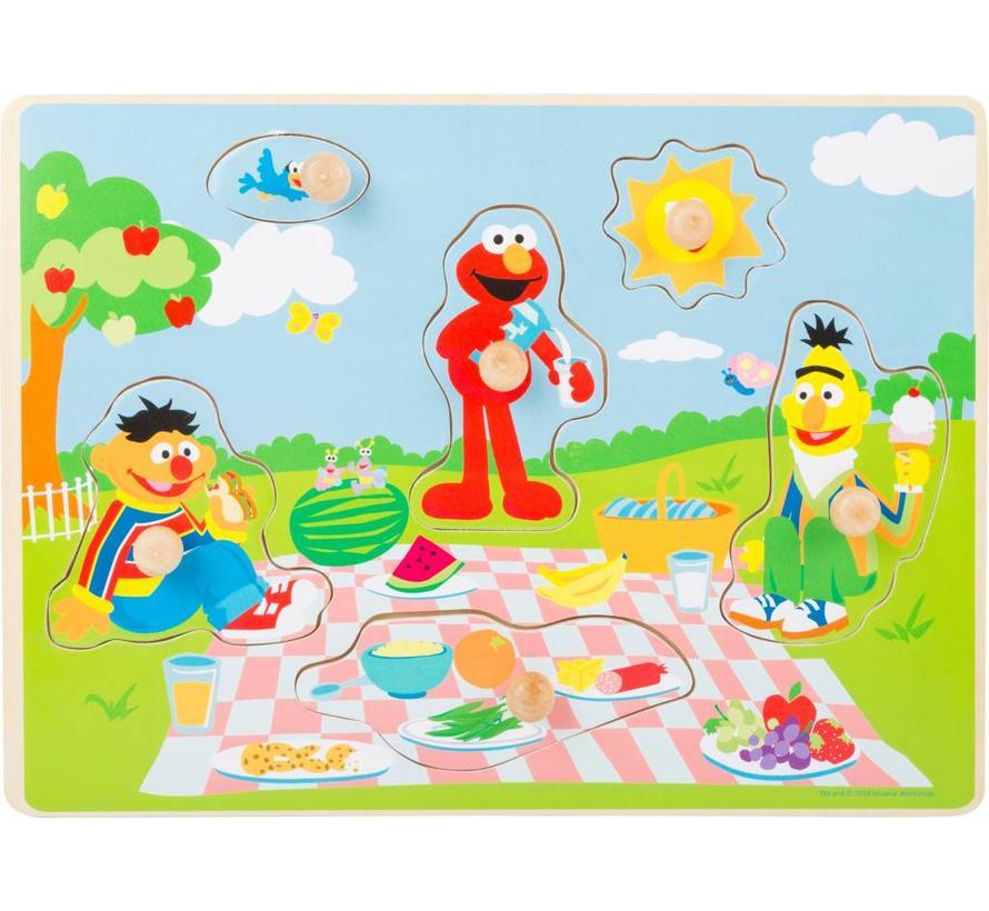 Puzzel Sesamstraat Picknick Hout