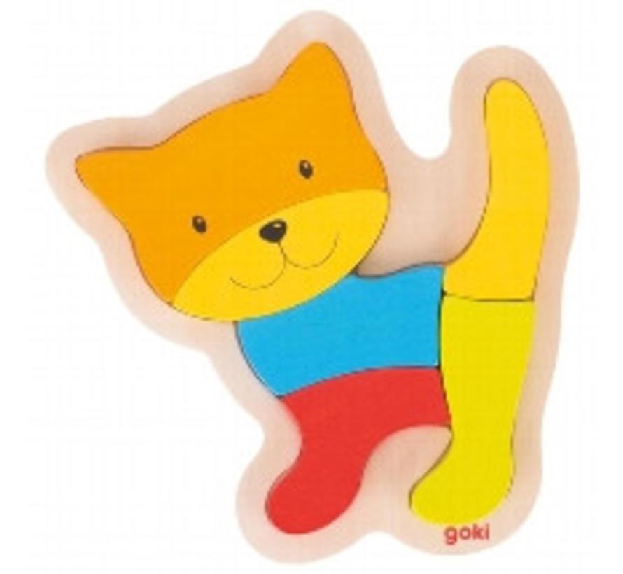 Puzzel Kat Hout