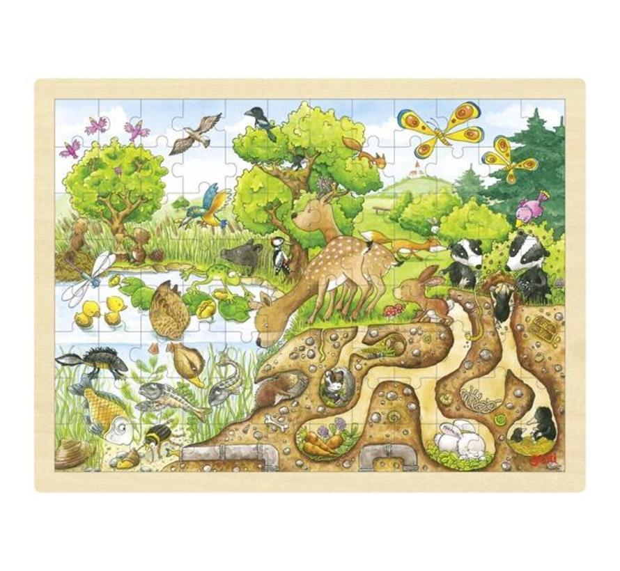Puzzel Ontdekking in de Natuur Hout