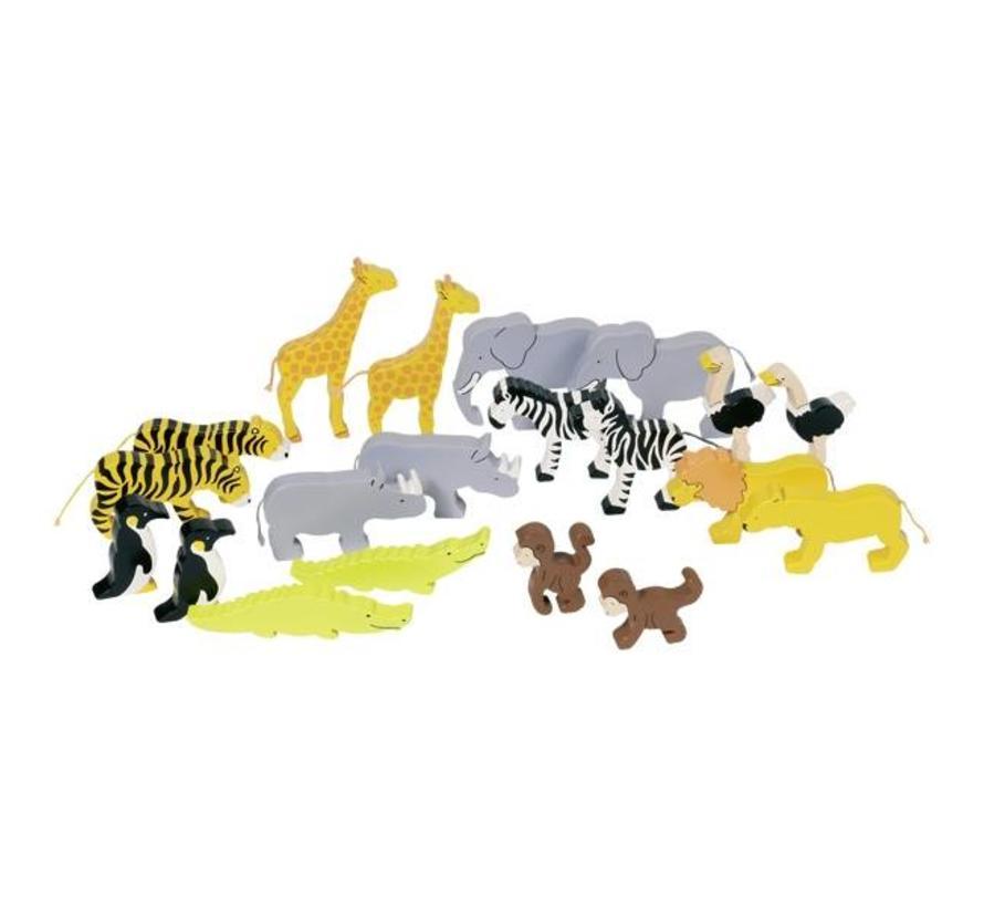 Dieren Afrika 20-delig