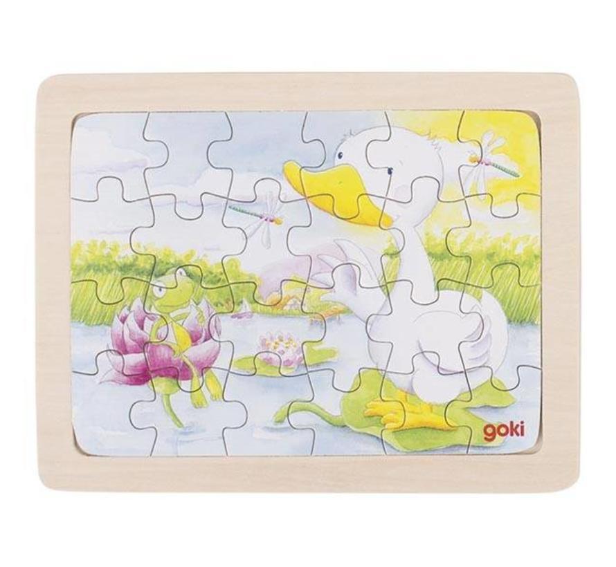 Puzzel Dieren 6-delig Hout