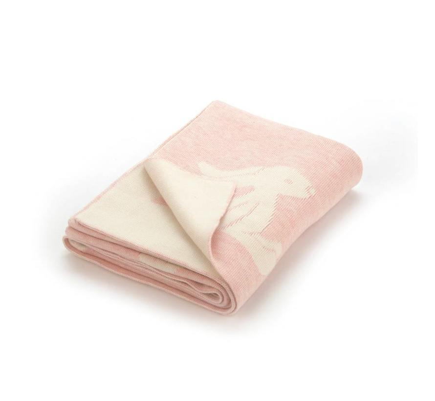 Deken Pink Bashful Bunny Blanket