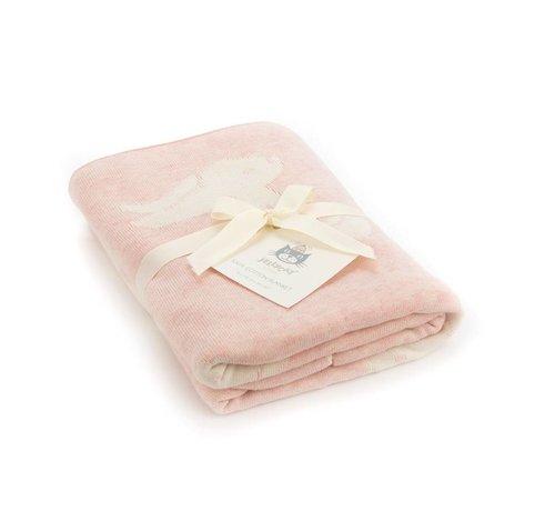 Jellycat Deken Pink Bashful Bunny Blanket
