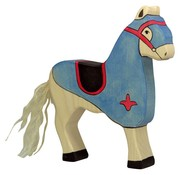 Holztiger Paard Toernooipaard Blauw 80249
